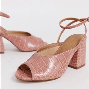 ASOS beige croc sandals (UK7/US9) NEW